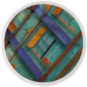 Diagonal Round Beach Towel