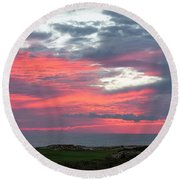 Diamante Sunset Round Beach Towel
