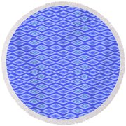 Diamond Eyes Cobalt Round Beach Towel