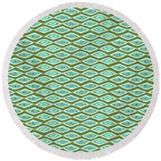 Diamond Eyes Olive Round Beach Towel