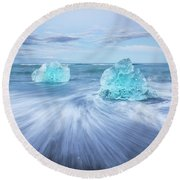Diamond In The Rough. Round Beach Towel