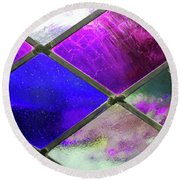 Diamond Pane Glass Round Beach Towel