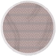 Diamond Rain Tan Round Beach Towel
