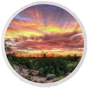 Diamond Sky Round Beach Towel