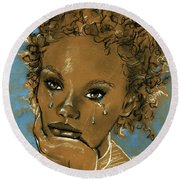 Diamond's Daughter Round Beach Towel