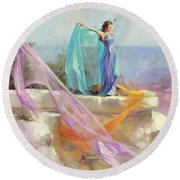 Diaphanous Round Beach Towel