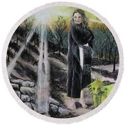 Did You Do That? Round Beach Towel