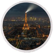 Didn't Know Paris Has A Skyline Round Beach Towel