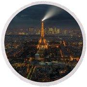 Didn't Know Paris Has A Skyline Round Beach Towel by Alex Aves