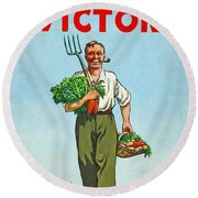 Dig On For Victory Round Beach Towel