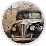 Digger O Balls Funeral Pallor Hearse Round Beach Towel