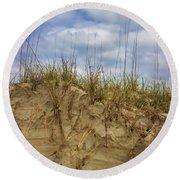 Digging In Deep In Sand Dunes Round Beach Towel