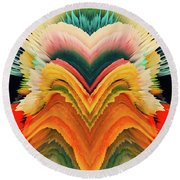 Round Beach Towel featuring the photograph Vivid Eruption by Colleen Taylor