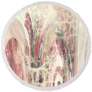 Round Beach Towel featuring the digital art Abstract No 18 by Robert G Kernodle