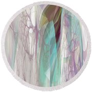 Round Beach Towel featuring the digital art Abstract No 19 A by Robert G Kernodle