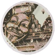 Digital Anonymous Collective Round Beach Towel