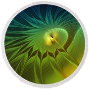 Digital Nature Round Beach Towel