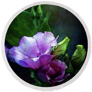 Digital Watercolor Elegance 3700 W_2 Round Beach Towel