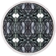 Digitized Ballpoint A Tuesday Image Round Beach Towel
