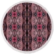Digitized Ballpoint An Ongoing Series Round Beach Towel
