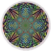 Dimensional Celtic Cross Round Beach Towel
