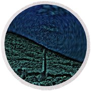 Dimensional Confluence Round Beach Towel