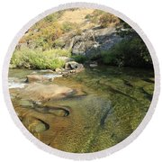 Round Beach Towel featuring the photograph Dimensions by Sean Sarsfield
