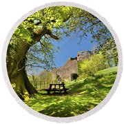 Dinefwr Castle Round Beach Towel