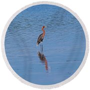Round Beach Towel featuring the photograph Ding Darling's Number One by Michiale Schneider