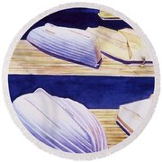 Dinghy Lines Round Beach Towel