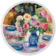 Dining Alfresco Round Beach Towel
