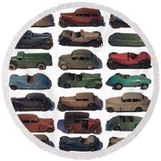 Dinky Car Park Round Beach Towel