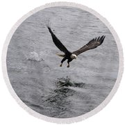 Dinner? Prince Rupert Eagle  Round Beach Towel