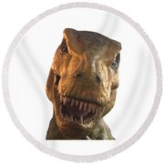 Dino Hello Round Beach Towel