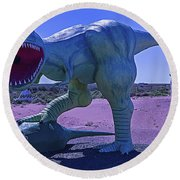 Dinosaur With Kill Round Beach Towel