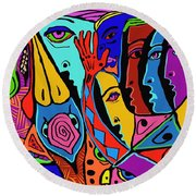 Director Of Chaos Round Beach Towel