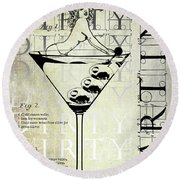 Dirty Dirty Martini Patent Round Beach Towel