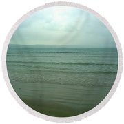 Round Beach Towel featuring the photograph Disappear by Anne Kotan