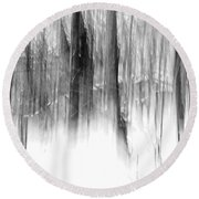 Disappearance Round Beach Towel
