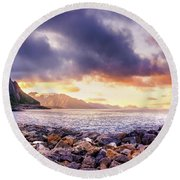 Disappearing Archipelago Round Beach Towel