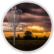 Disc Golf Anyone? Round Beach Towel