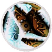 Round Beach Towel featuring the digital art Discontinuous Permafrost by Ron Bissett