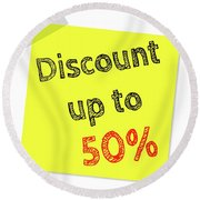 Discount Funny T-shirt Round Beach Towel
