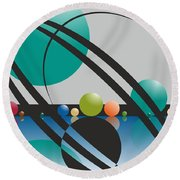 Discovered Thoughs Round Beach Towel