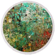 Discovery - Abstract Art Round Beach Towel