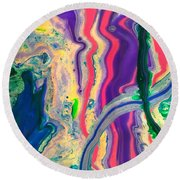 Disillusioned Round Beach Towel