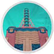 Disney Round Beach Towel by Jerry Golab