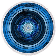 Circularity Round Beach Towel