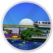 Florida Round Beach Towel