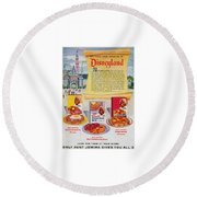 Disneyland And Aunt Jemima Pancakes  Round Beach Towel